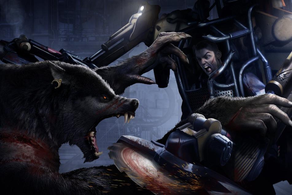 """In """"Werewolf: The Apocalypse - Earthblood"""" nehmt Ihr es als namensgebender Werwolf mit Mechs und Mutanten auf."""