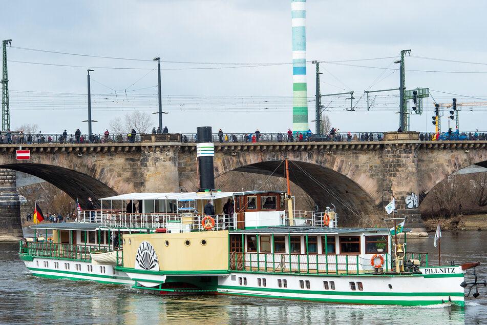 """Mit dem Dampfer """"Pillnitz"""" geht es ab jetzt wieder zum gleichnamigen Schloss und Park."""