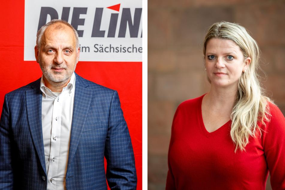 Für Linke-Politiker Susanne Schaper (43) und Rico Gebhardt (58) soll es keine Impfpflicht geben. Dennoch sind sie gegen jegliches Vorgehen von radikalen Impfgegnern.
