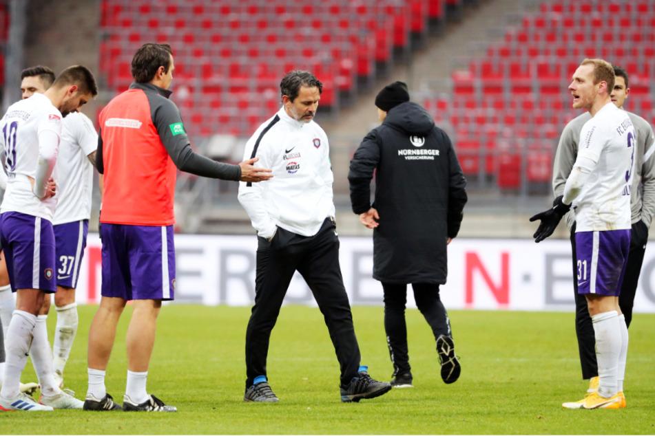 Enttäuschung beim FCE: Aue kassierte in Nürnberg eine ärgerliche 0:1-Niederlage.