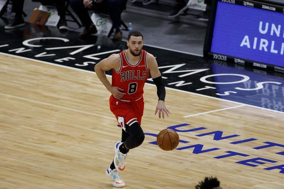 Bulls guard Zach LaVine had 25 points in the Bulls' big win over the Celtics on Friday night