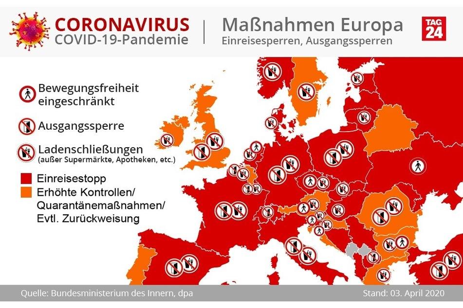 Diese Maßnahmen ergriffen die europäischen Staaten bislang. Bald könnten weitere Kontrollen an der deutschen Grenze folgen.