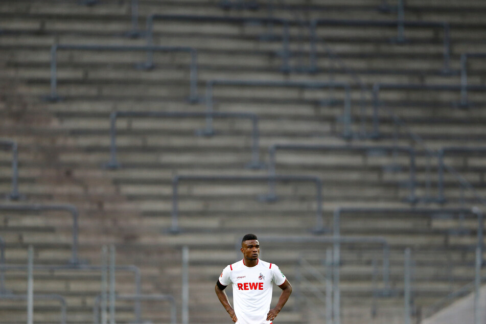 Kölns Jhon Cordoba reagiert während des Spiels.