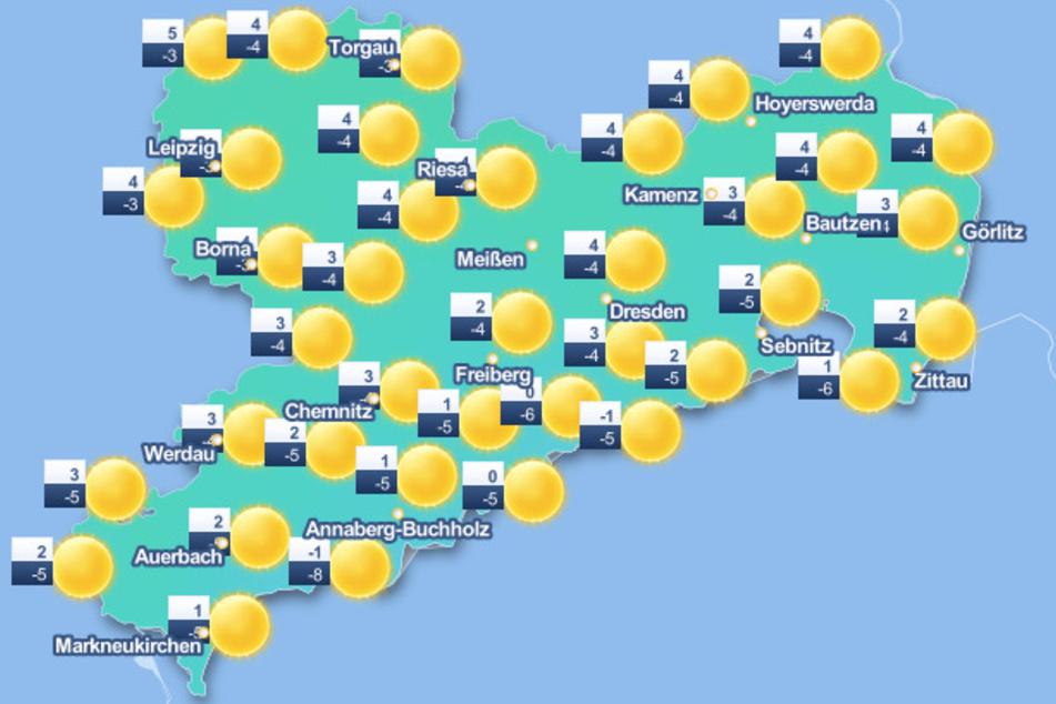 In Sachsen wird es in den kommenden Tagen sonnig und kalt.