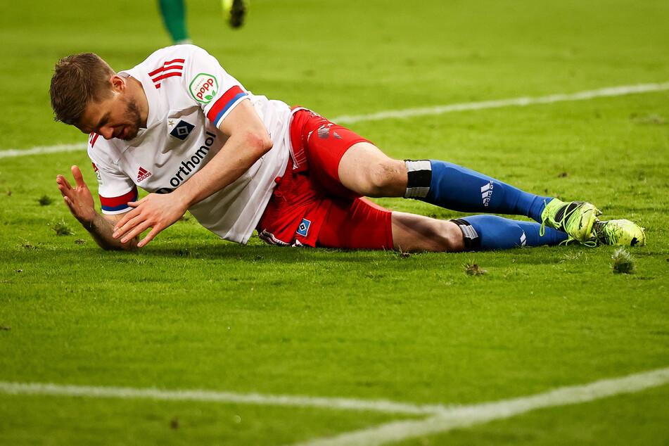 HSV-Tormaschine Simon Terodde gelang gegen die Lilien so gut wie nichts. Der 20-Tore-Mann konnte der Partie nicht seinen Stempel aufdrücken.