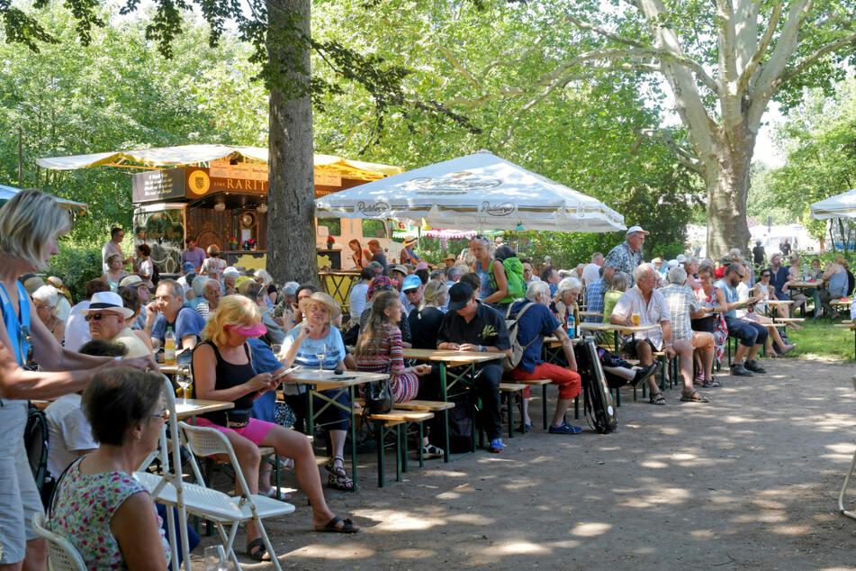 2019 fand das Elbhangfest noch ganz unbeschwert im Weindorf Loschwitz statt.