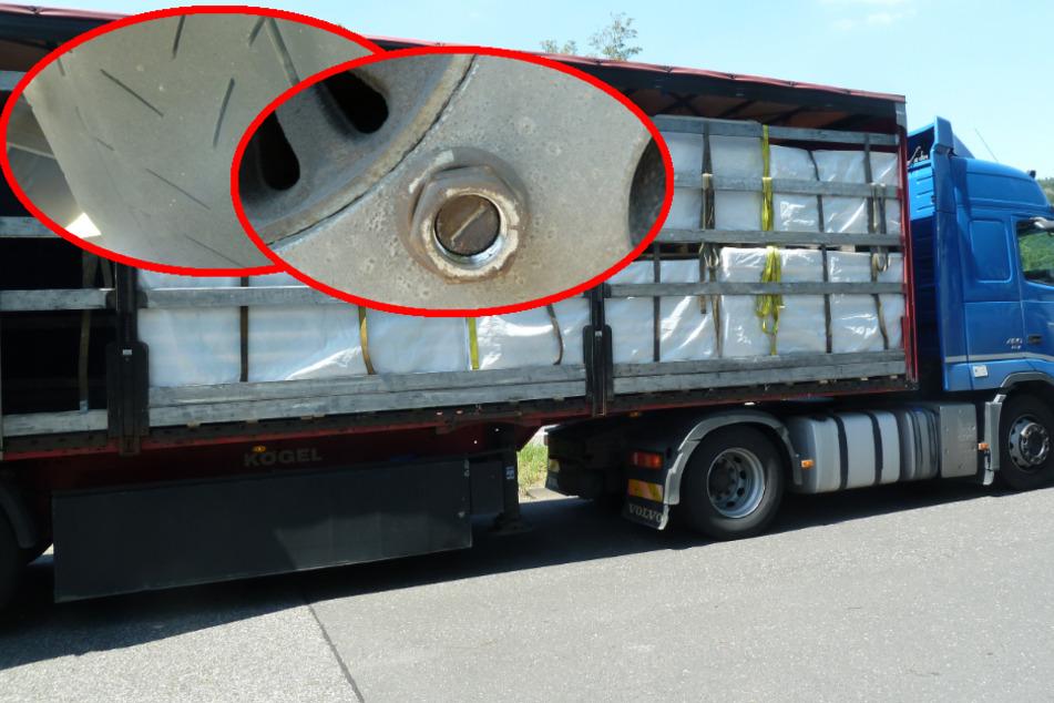 Rad locker, Ladung nicht gesichert: Polizei legt Laster aus Südosteuropa still