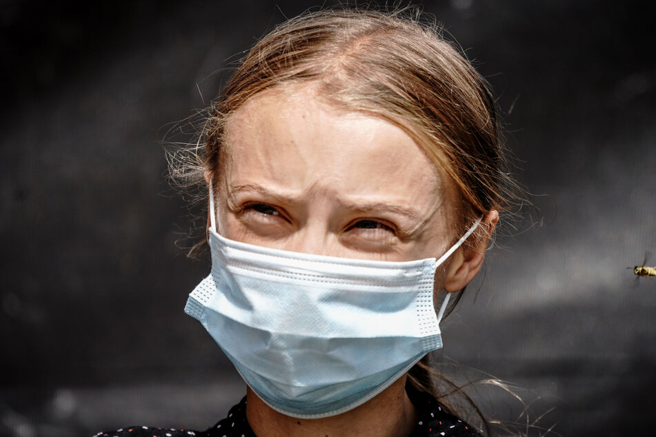 Greta Thunberg (18) bringen kalte Tage nicht aus der Ruhe.