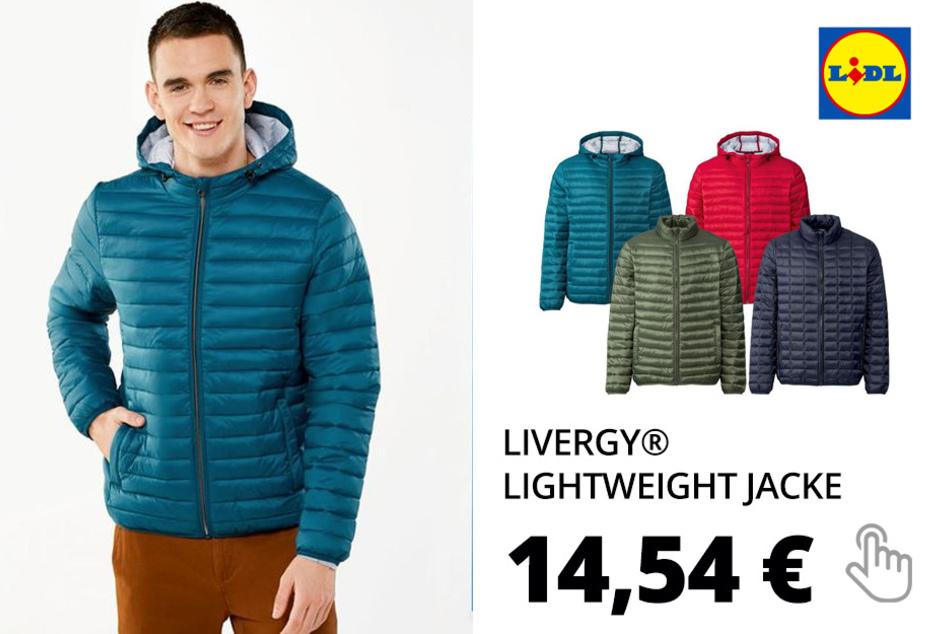LIVERGY® Lightweight Jacke Herren, mit Eingrifftaschen, Imprägnierung, wasserabweisend
