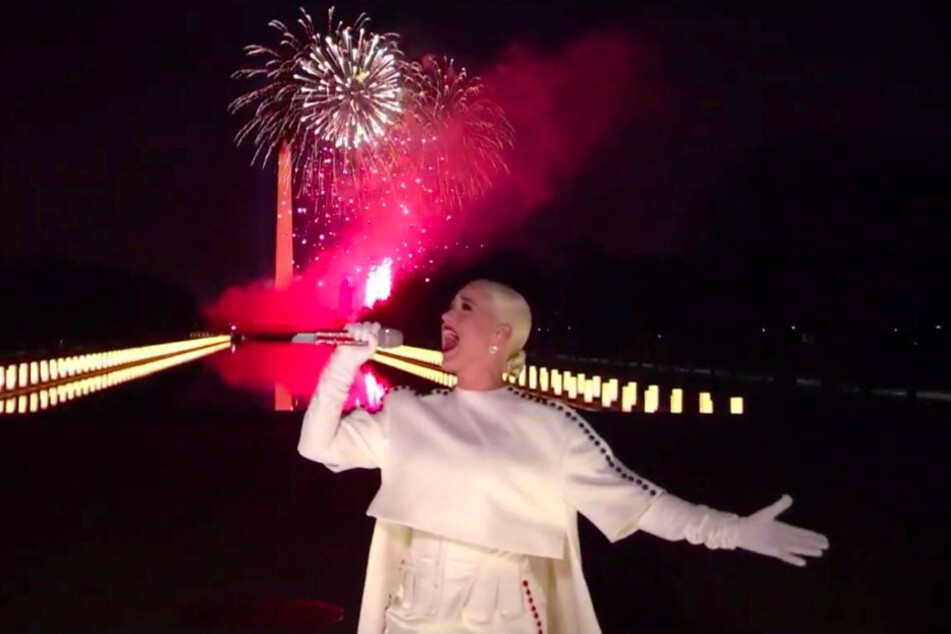 """Katy Perry singt während der Veranstaltung """"Celebrating America"""" zur Amtseinführung von US-Präsident Biden."""