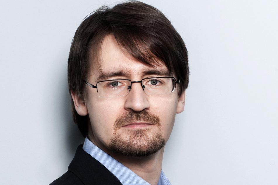 """Ulrich Weiser (41) vom Chemnitzer """"FOG""""-Institut weiß, warum die Bevölkerung in Chemnitz so alt ist."""