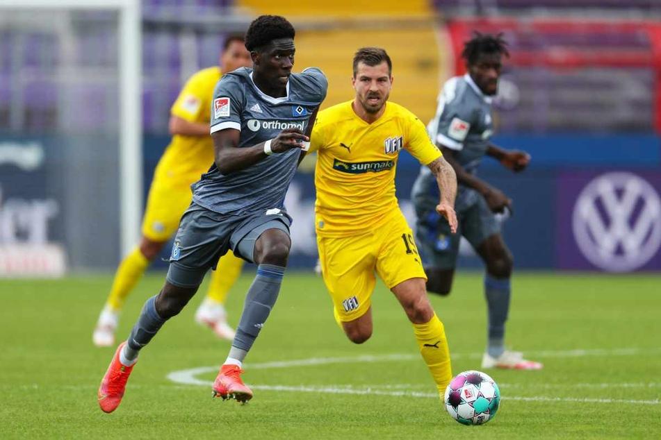 Sein letztes Spiel für den HSV absolvierte der 19-Jährige am 33. Spieltag der vergangenen Saison gegen den VfL Osnabrück.