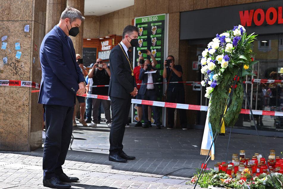 Würzburgs Oberbürgermeister Christian Schuchardt (52, CDU, r.) war ebenfalls vor Ort.