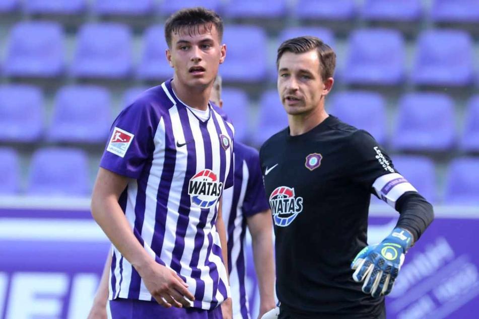"FCE-Kapitän Martin Männel (33) ist ""Mr. 2. Liga"". Er glaubt an die Jungen um Ramzi Ferjani (20)."