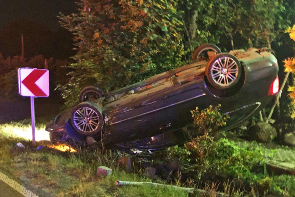 Nach dem Unfall flüchtete der Autofahrer.