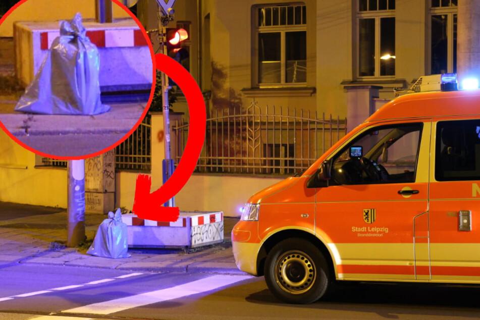 Leipzig: Leipzig: Stinkender, zugeschnürter Sack sorgt für Großeinsatz
