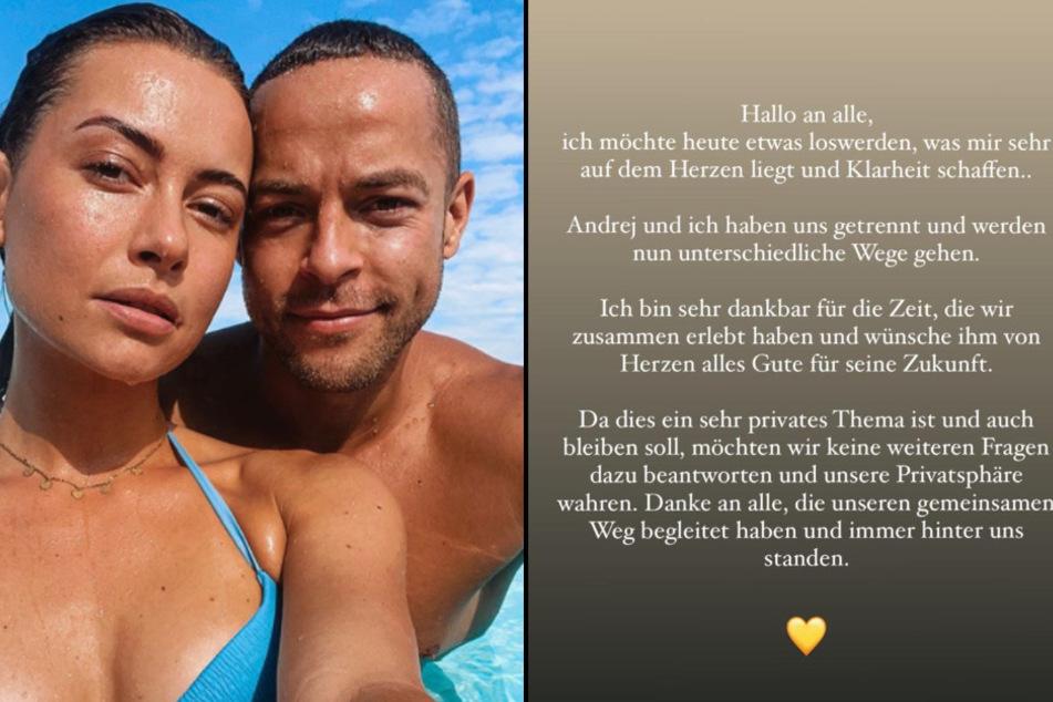 Das Trennung-Statement von Jennifer Lange in ihrer Instagram-Story und ein Bild aus glücklichen Tagen.