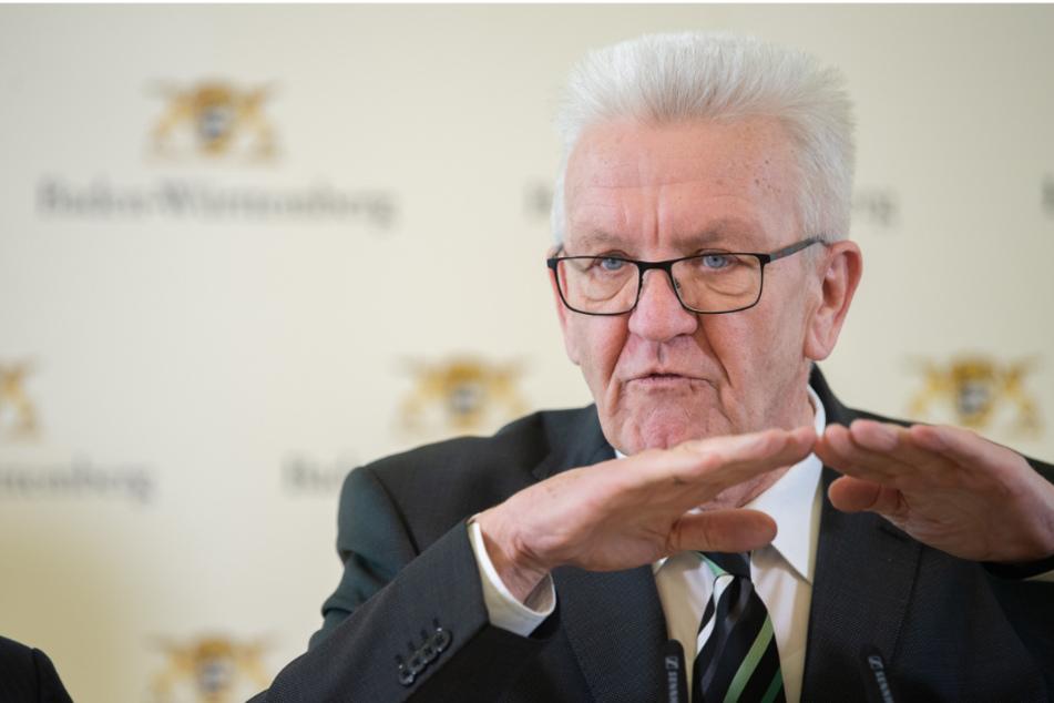Baden-Württembergs Ministerpräsident Winfried Kretschmann (71, Grüne).