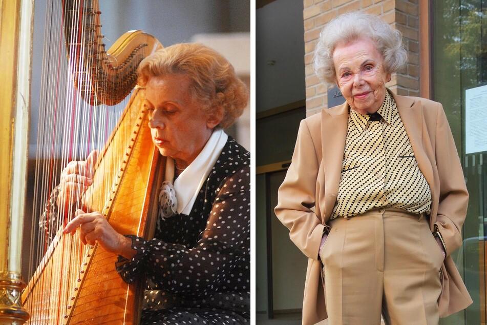Einst gefeierter Musik-Star: Jutta Zoff (†91, l.) spielte noch im hohen Alter auf ihrem Paradeinstrument, der Harfe. Gisela L. (101) kam trotz ihres hohen Alters ins Amtsgericht, um den Prozess gegen den einstigen Betreuer ihrer Schwester zu verfolgen.