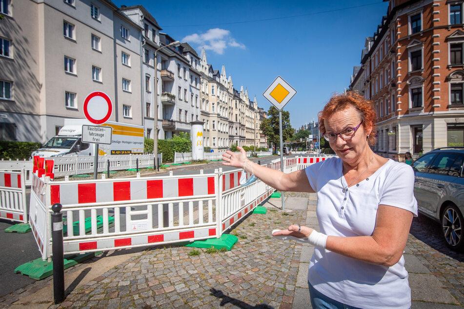 Chemnitz: Kaßberg-Baustelle: Anwohner sauer, weil (fast) nichts passiert