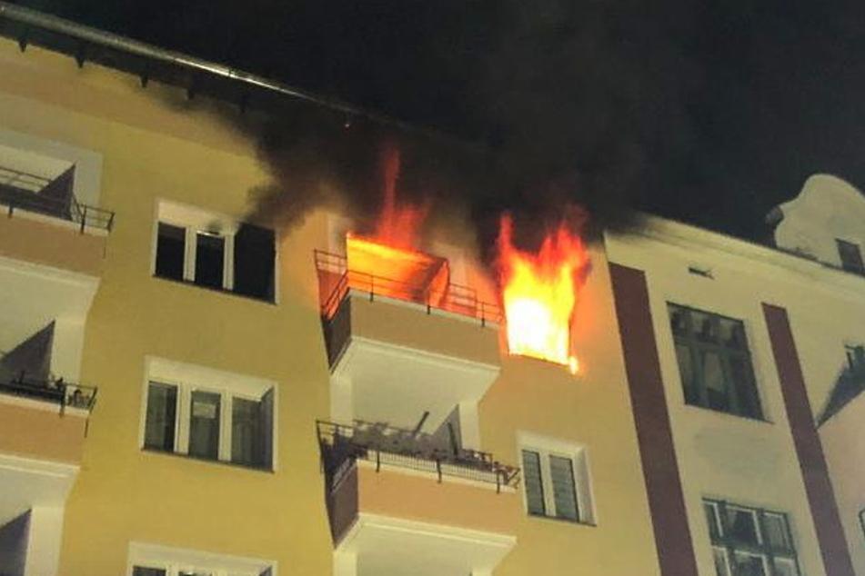 40 Feuerwehrkräfte mussten ausrücken, um den Brand zu bekämpfen.