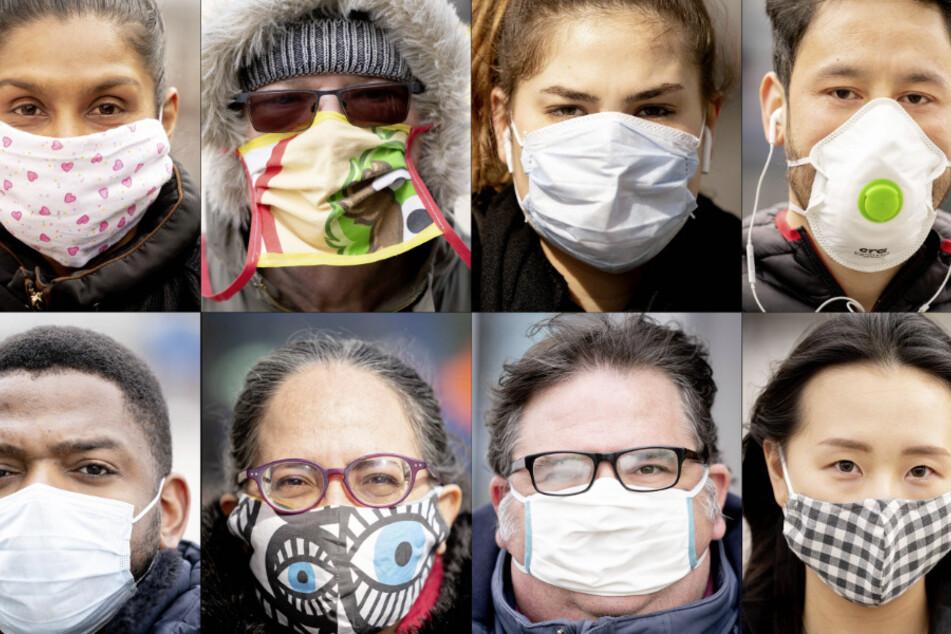 Menschen mit Maske. (Archivbild)