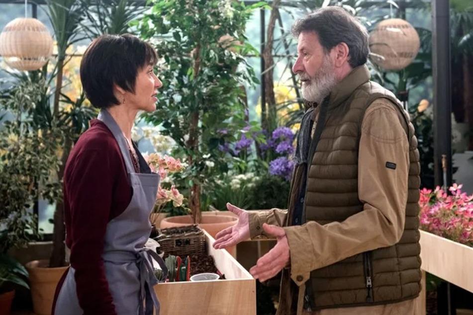 Merles (Anja Franke) Ärger über Gunters (Hermann Toelcke) Verhalten lässt offenbar keinerlei Wiedersehensfreude zu.
