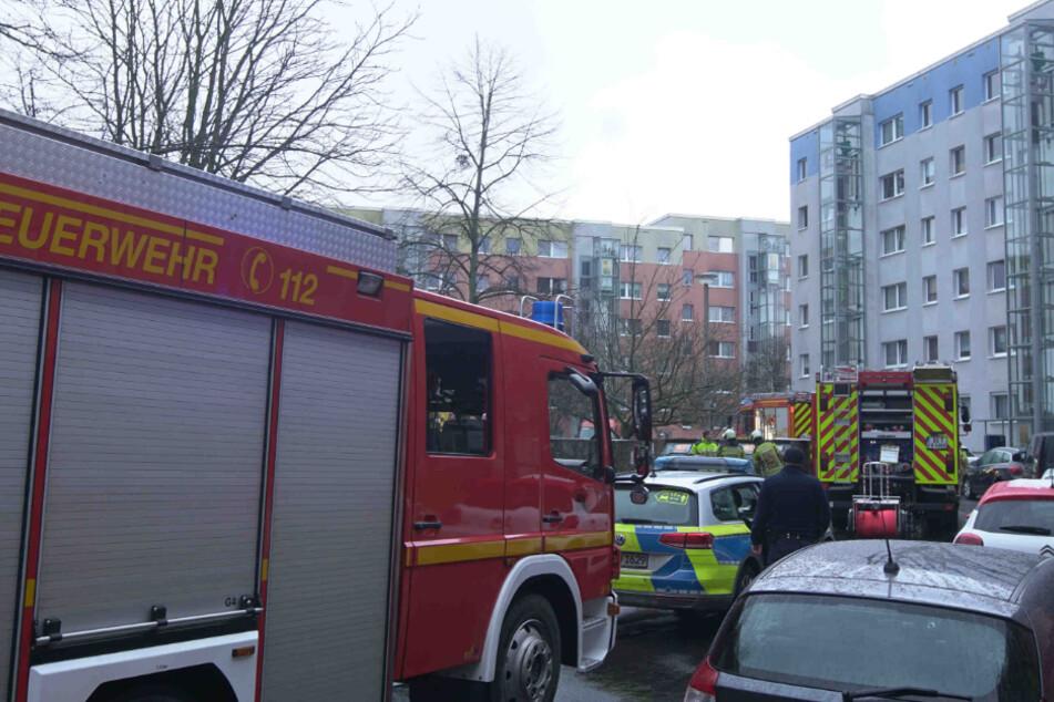 Dresden: Feuerwehr-Einsatz in Prohlis: Vermisster aus Brandwohnung gerettet