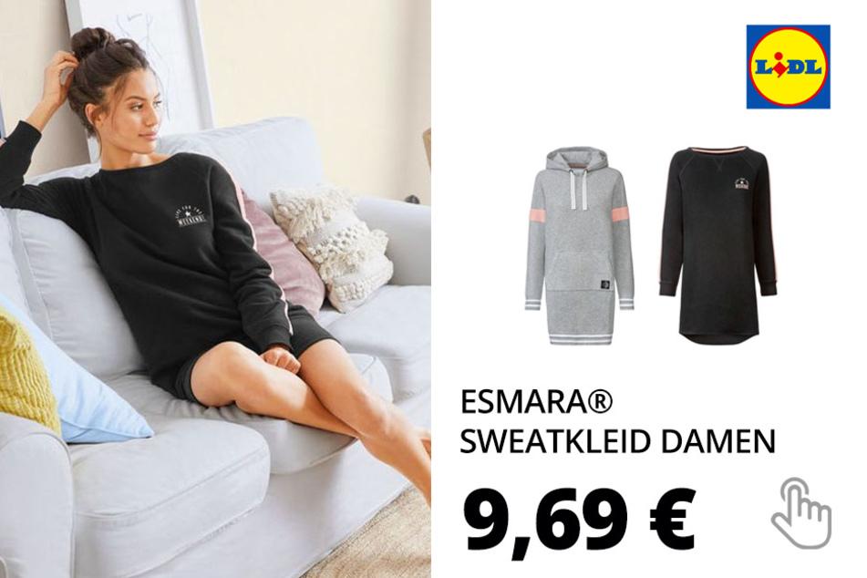 ESMARA® Sweatkleid Damen, mit Baumwolle