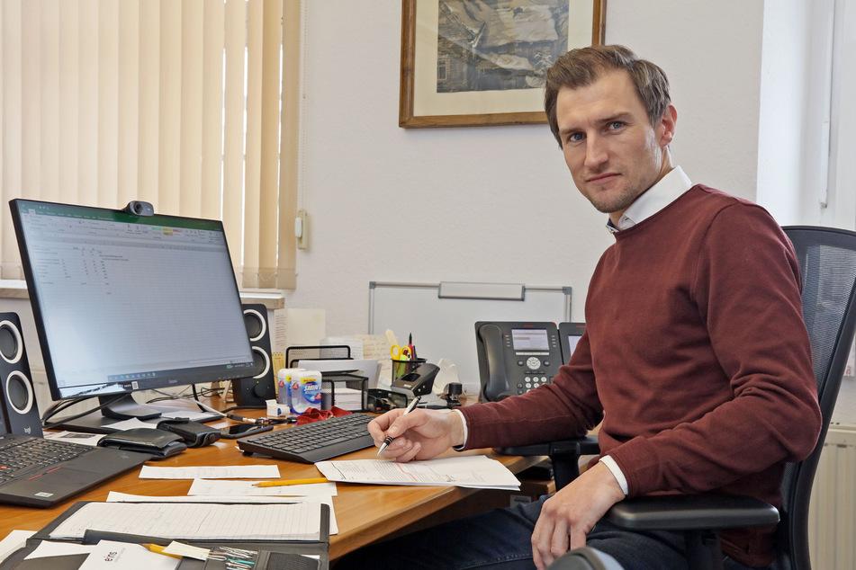 Bezweifelt die Aussagekraft von Inzidenzwerten: Martin Kunz (35), parteiloser Bürgermeister von Hartenstein.