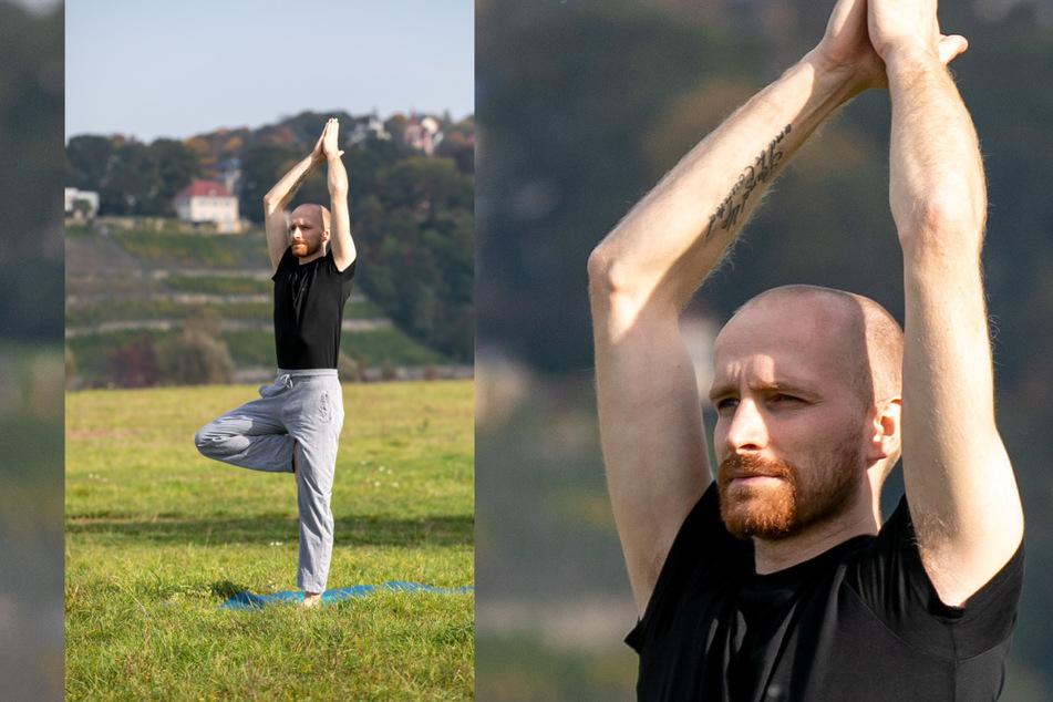 Yoga stärkt die innere Ruhe, entspannt - ein guter Ausgleich zu Arne Tempels Arbeit.
