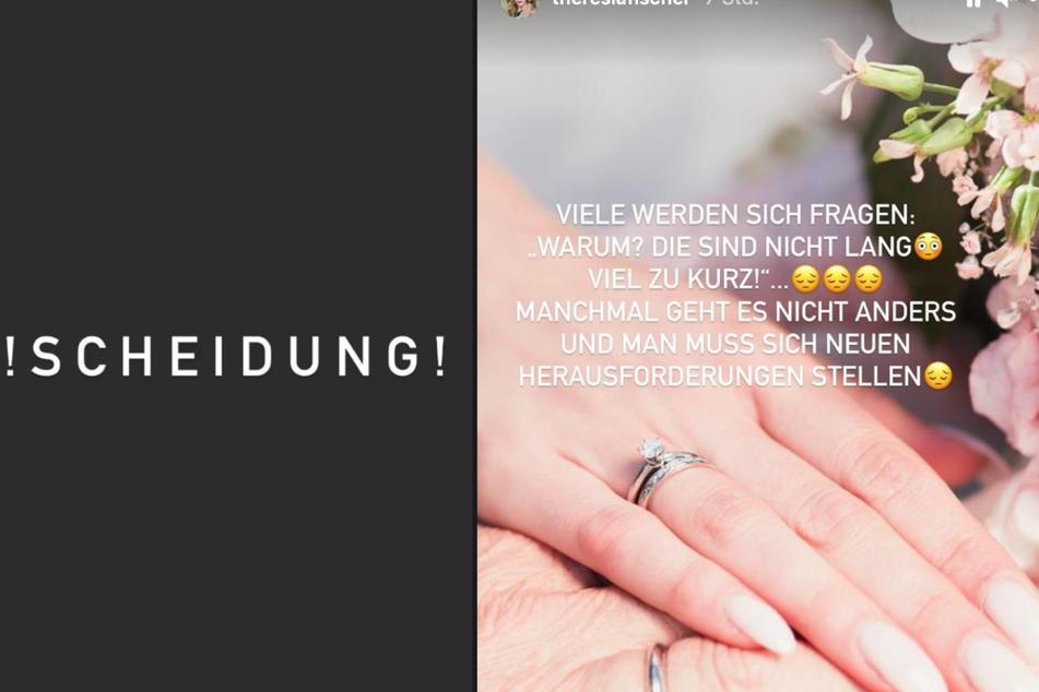 """Theresia Fischer (29) berichtet über ihre """"Scheidung"""" auf Instagram."""