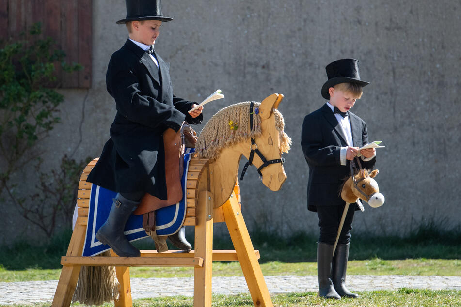 Diese Variante des Osterreitens wäre für Pferde wohl die sicherste. Doch auch das Kinderreiten wurde in diesem Jahr abgesagt.