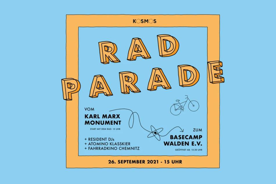 Vom Karl-Marx Monument zum Basecamp Walden e.V. mit dem Fahrrad - eine besondere Radparade.