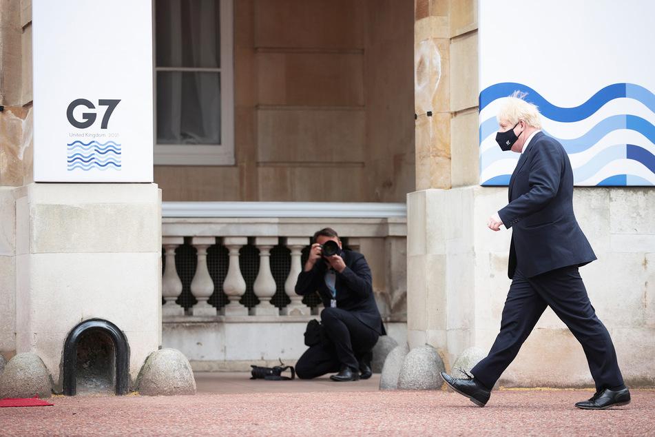Der britische Premierminister Boris Johnson (56) auf dem Weg zu einem G7-Treffen. In dieser Woche wird er dort auf Biden treffen.