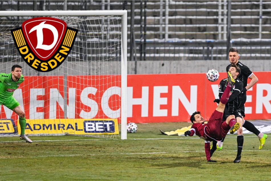"""Dynamo-Stürmer Hosiner zu seinem Fallrückzieher: """"Treffe ich den schlechter, geht der Ball rein!"""""""