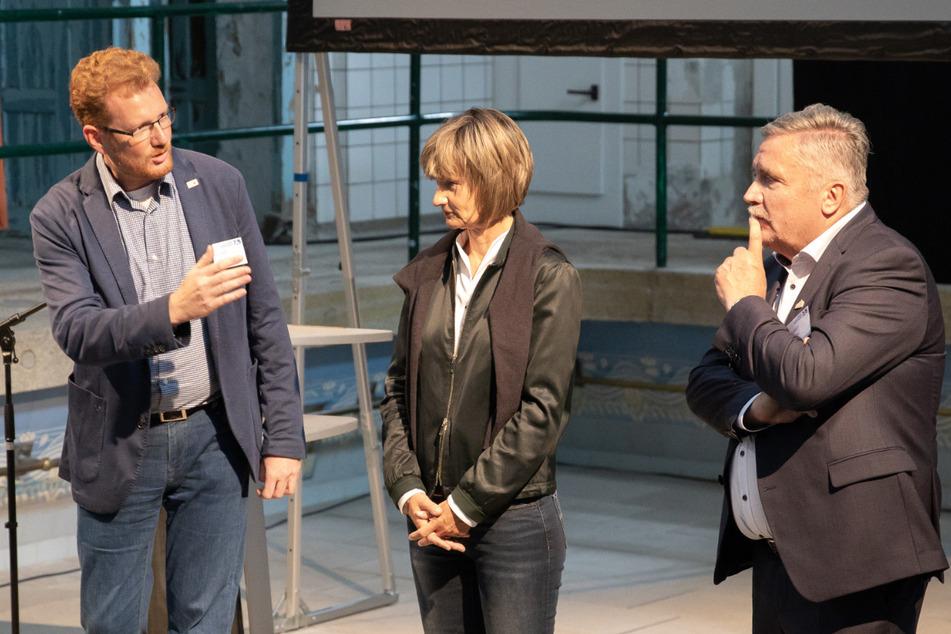 Arbeiten zusammen für die Kulturhauptstadt (v.l.): Ferenc Csak (46), Barbara Ludwig (58, SPD) und Rolf Schmidt (60, Freie Wähler).