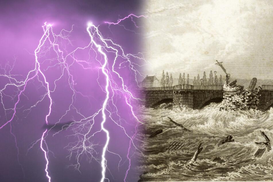 Vor 175 Jahren:So dramatisch wütete die Sächsische Sintflut