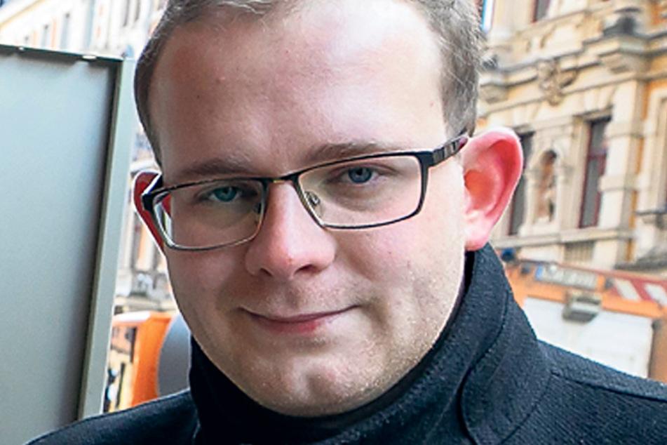 Stadtrat Christopher Colditz (28, Linke) erhielt Morddrohungen per E-Mail.