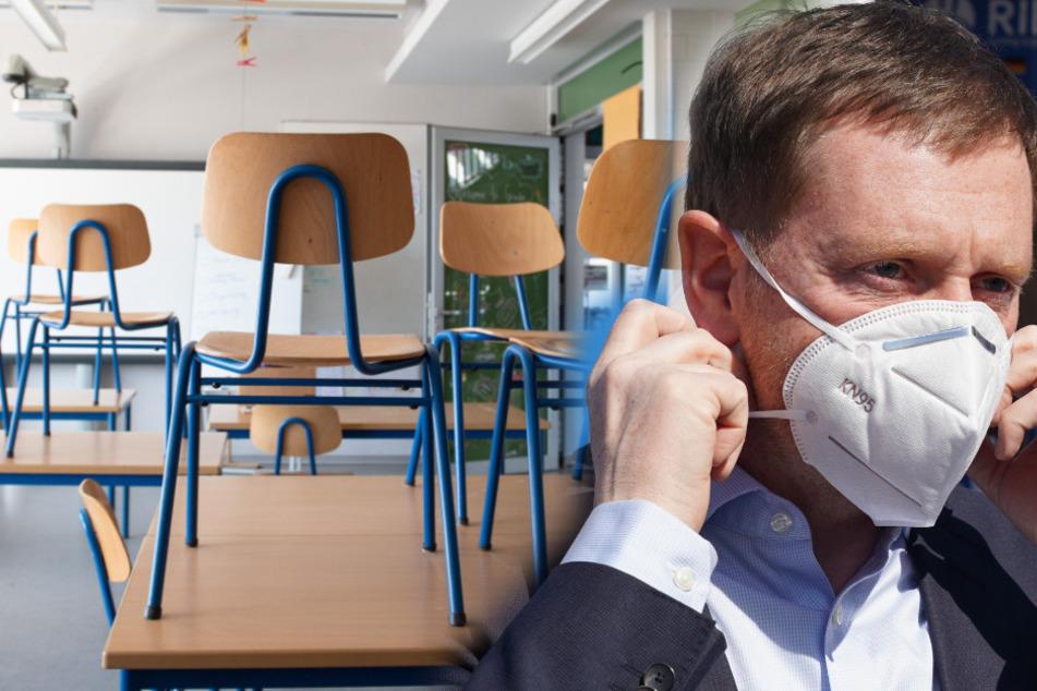 Dresden: Kretschmer plant schrittweise Wiedereröffnung von Schulen in Sachsen