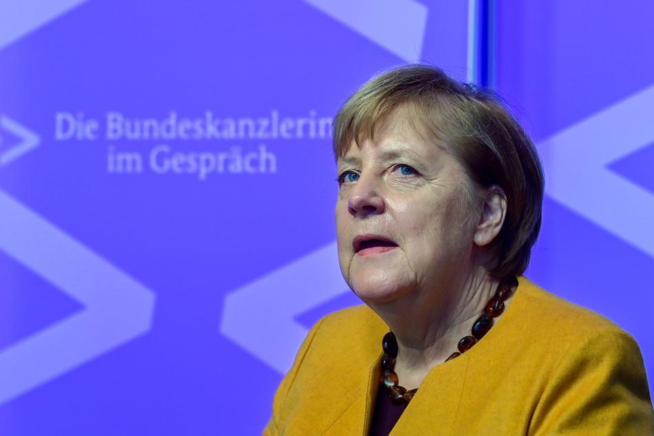 """Bundeskanzlerin Angela Merkel nimmt an der neuen digitalen Dialogreihe """"Die Bundeskanzlerin im Gespräch"""" teil."""