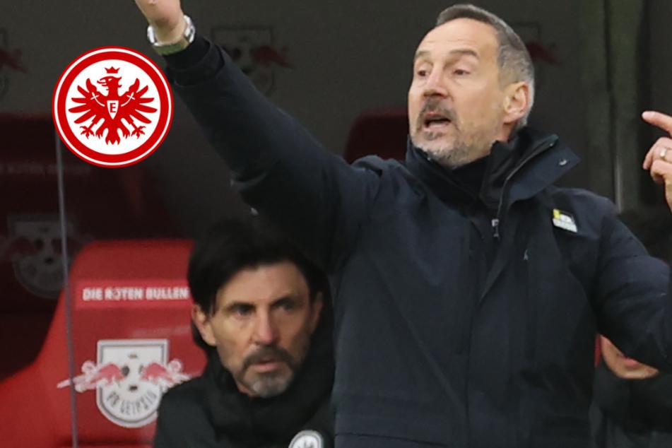 """""""Hat teilweise gar nicht funktioniert"""": Motz-Attacke von Eintracht-Coach Hütter nach Leipzig-Remis"""