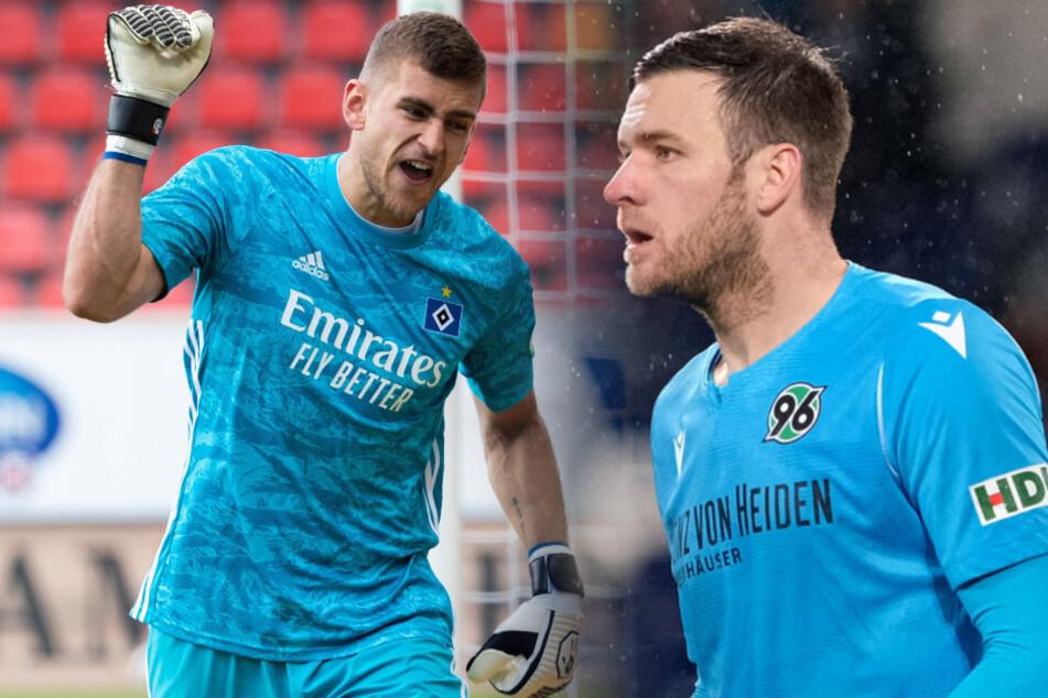 Julian Pollersbeck (l) und Michael Esser werden beim 1. FC Union gehandelt.