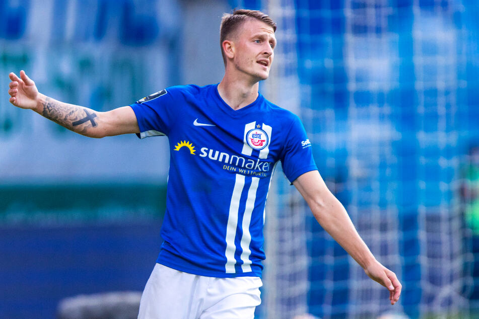 Nico Neidhart (26) schoss den FC Hansa Rostock gegen den SV Waldhof Mannheim zum 1:0-Heimsieg.