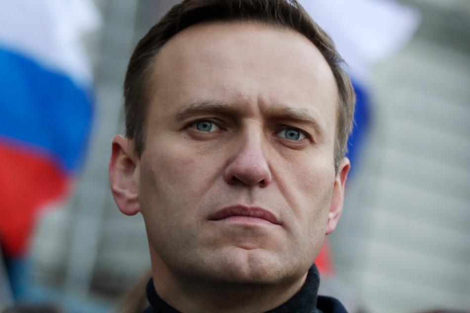 Moskau: Alexej Nawalny (44), Oppositionsführer aus Russland, bei einem Gedenkmarsch für den Kreml-Kritiker Nemzow im Februar 2020.