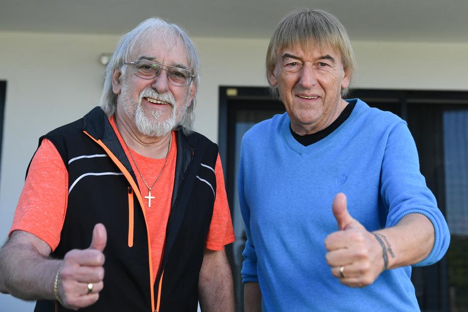 """Die Brüder Bernd (69/r.) und Karl-Heinz Ulrich (71), besser bekannt als das Schlager-Duo """"Die Amigos""""."""