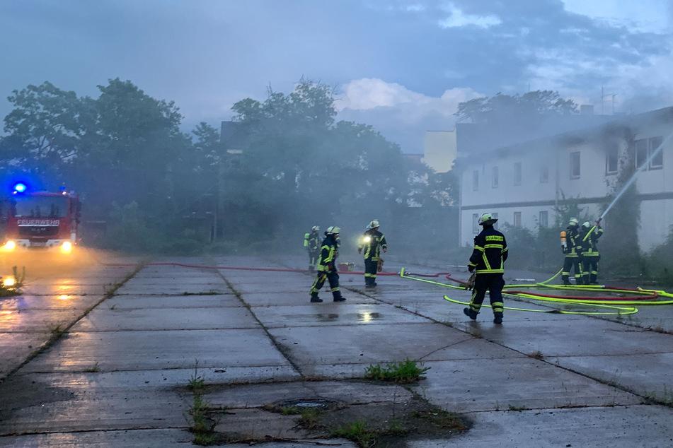 Magdeburg: Nächtlicher Feuerwehreinsatz auf Gelände der alten Brauerei