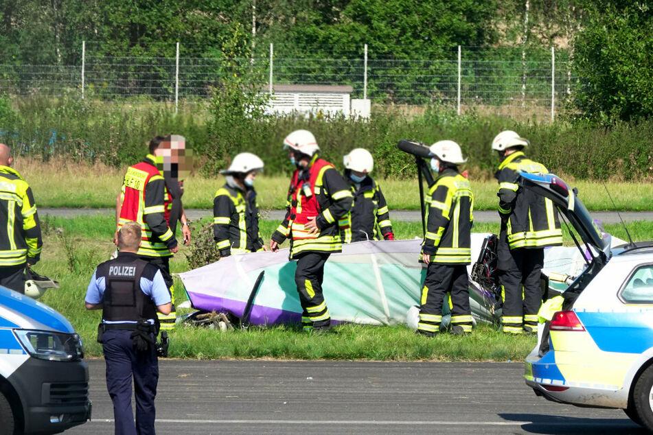 Der Pilot wurde in ein Krankenhaus gebracht.