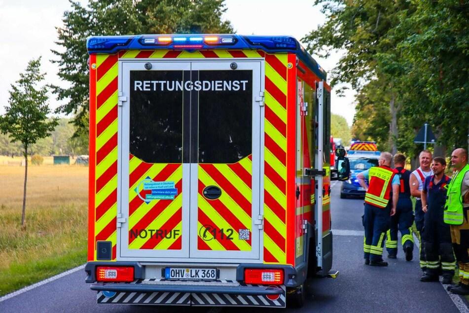 Im brandenburgischen Kremmen gab es einen schweren Unfall mit einem Motorrad.