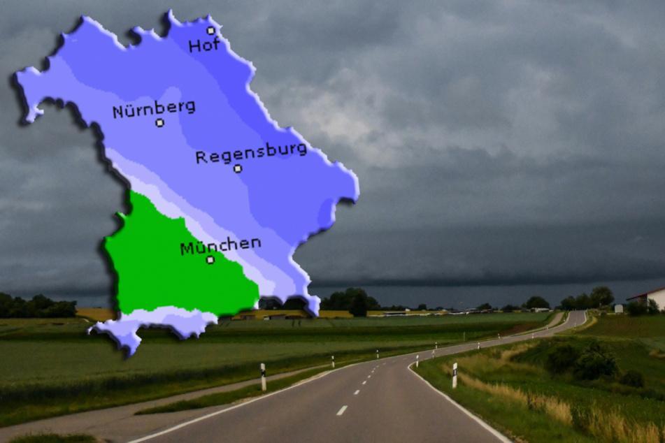 Blitze in Bayern: Regen und Gewitter ziehen über das Land